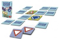 Pexeso Dopravní značky společenská hra 48ks v krabičce 11,5x18x3,5cm
