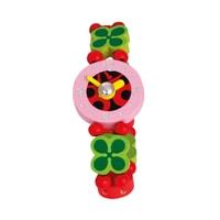 Dřevěné hračky Dřevěné hodinky srdíčka
