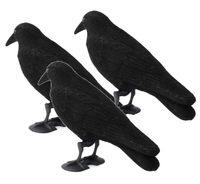 Maketa havrana plastová - havran - plašič ptáků - SADA 3KS