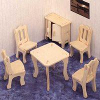 Woodcraft Dřevěné 3D puzzle jdelna