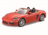 Bburago 1:24 Porsche 718 Boxster oranžová