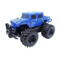 POLICE S.W.A.T. Rock Crawler Jeep 2 WD, 1:16, bitelná konstrukce, velké nárazníky, modrý