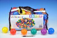 Míček do hracích koutů 6,5cm barevný 100ks v plastové tašce od 24 měsíců