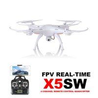 Syma X5SW FPV WiFi kamera, kompas, bílá perleť