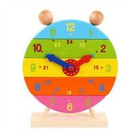 Bigjigs Toys Dřevěné nasazovací hodiny