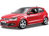 Kovový model auta Bburago Plus VW Polo GTI Mark 5 1:24 červená