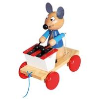 Tahací myš s xylofonem