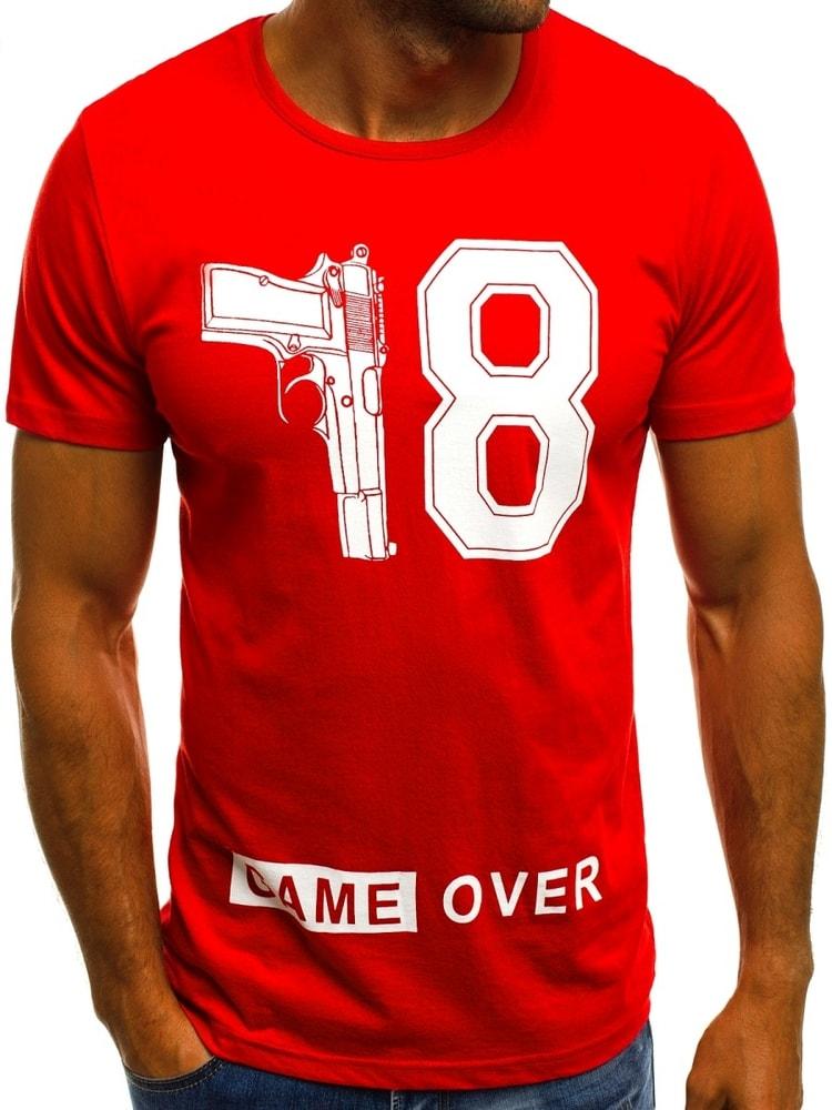 171bfe94d815 Pánské červené tričko