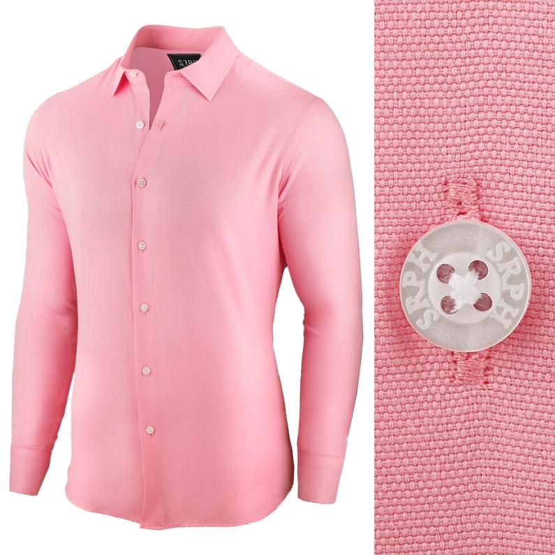 Seraphstore.com Pánská business košile růžové barvy