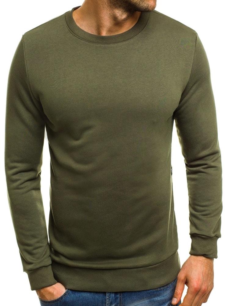 Buďchlap Zelená pánská módní mikina BREEZY 171715 - XL