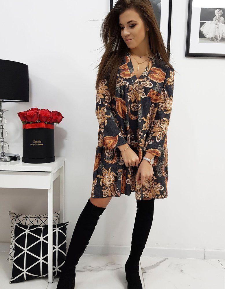Dstreet Orientální černé šaty Emilie