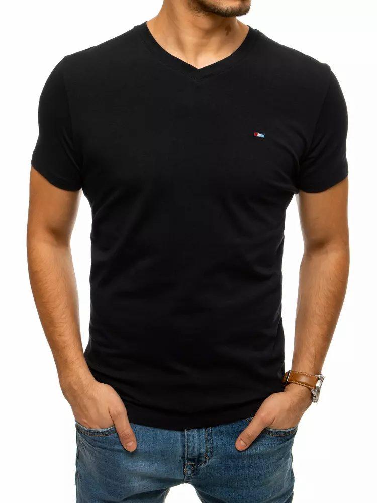 Dstreet Jednoduché černé tričko
