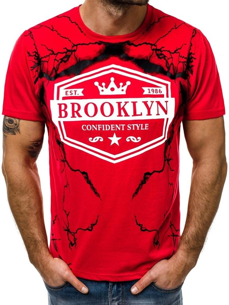 d7bb23a6a744 OZONEE JS 10810 Pánské tričko červené
