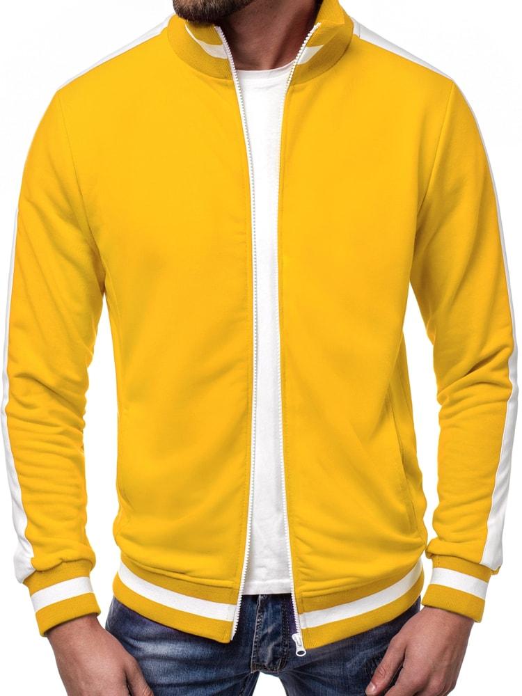 06b08567fb J. Style Krásná pánská mikina žlutá A 1008 - XXL