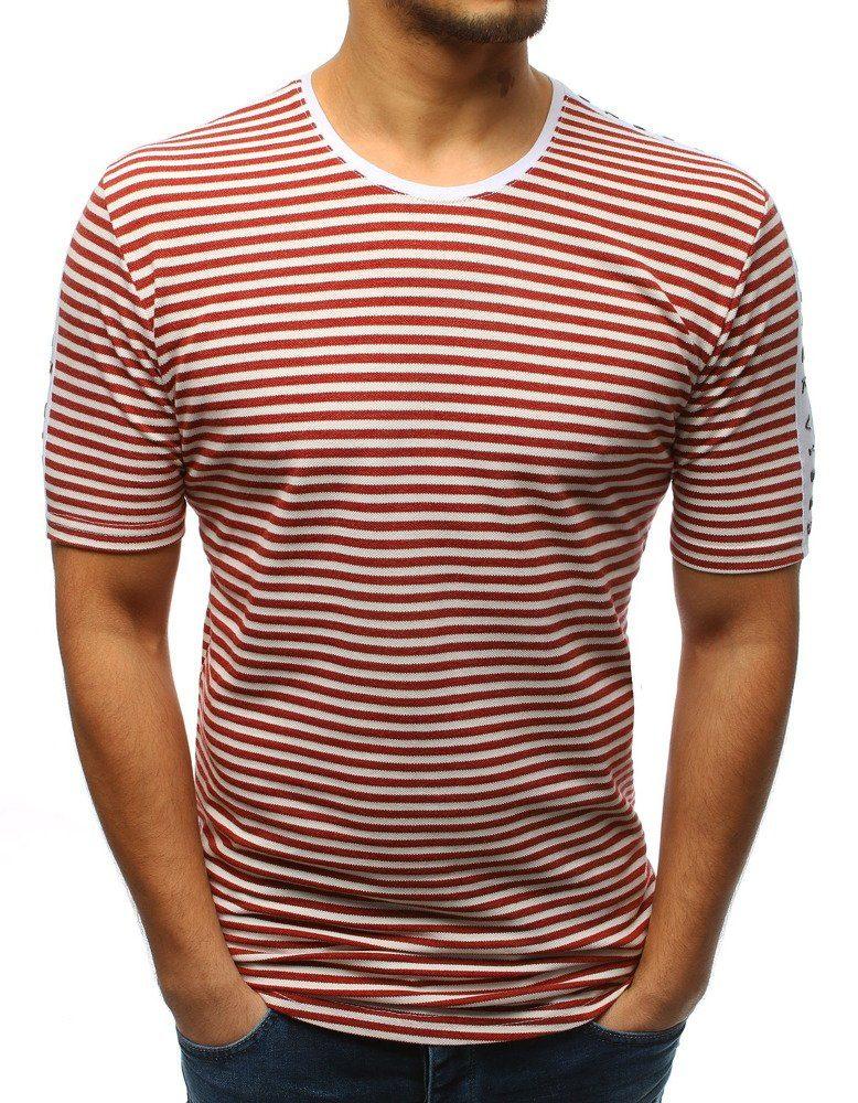 Buďchlap Vínové proužkované stylové tričko