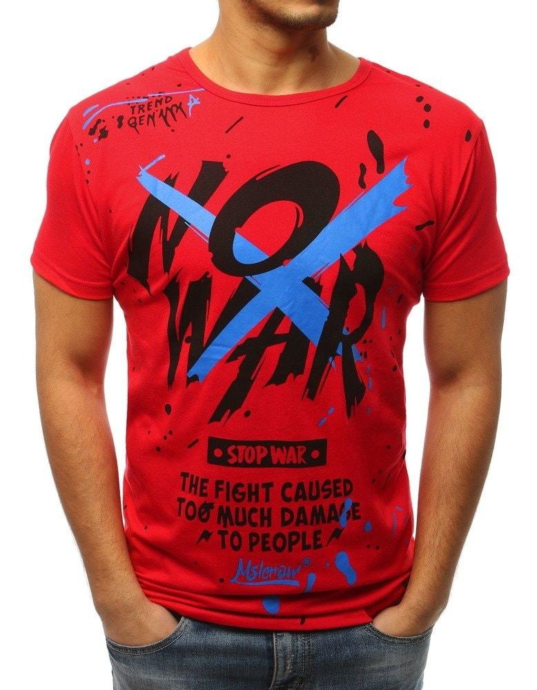 Buďchlap Červené senzační tričko NO WAR - XXL