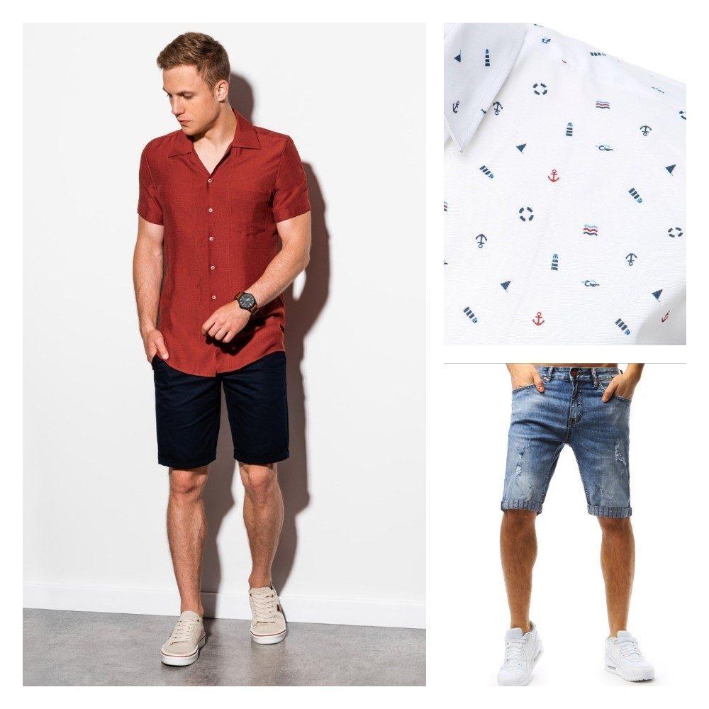 pánský letní outfit v košili s krátkým rukávem