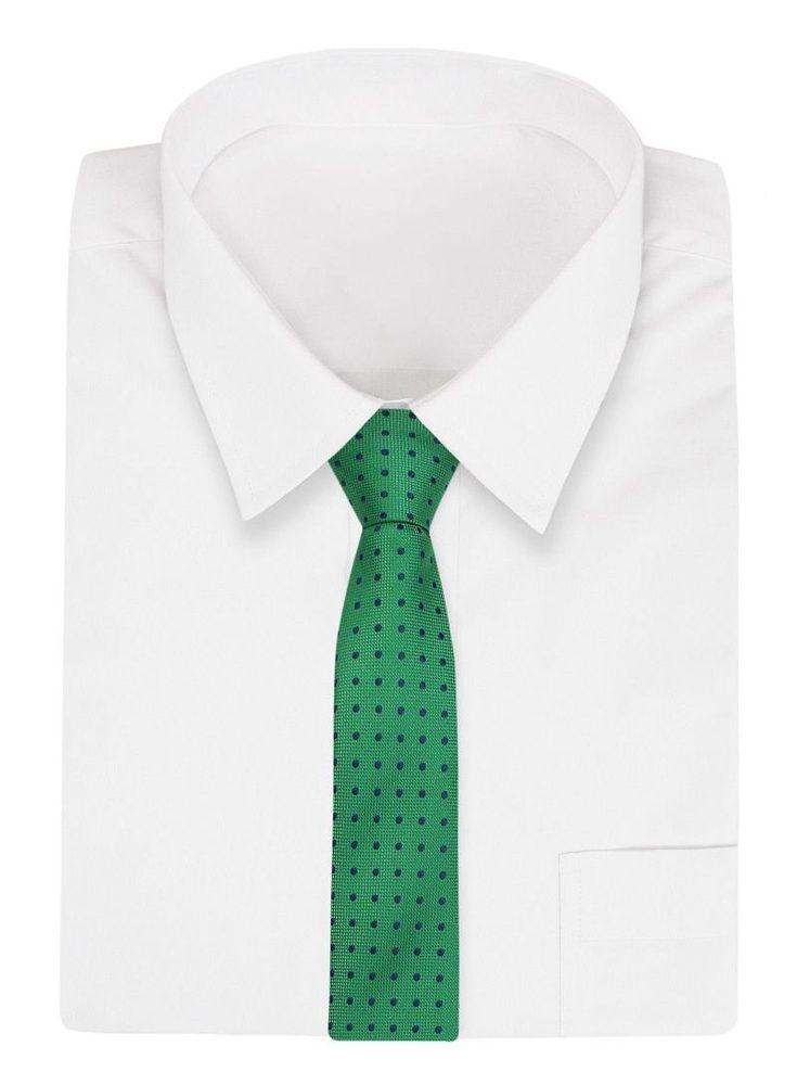 Zelená kravata s puntíky