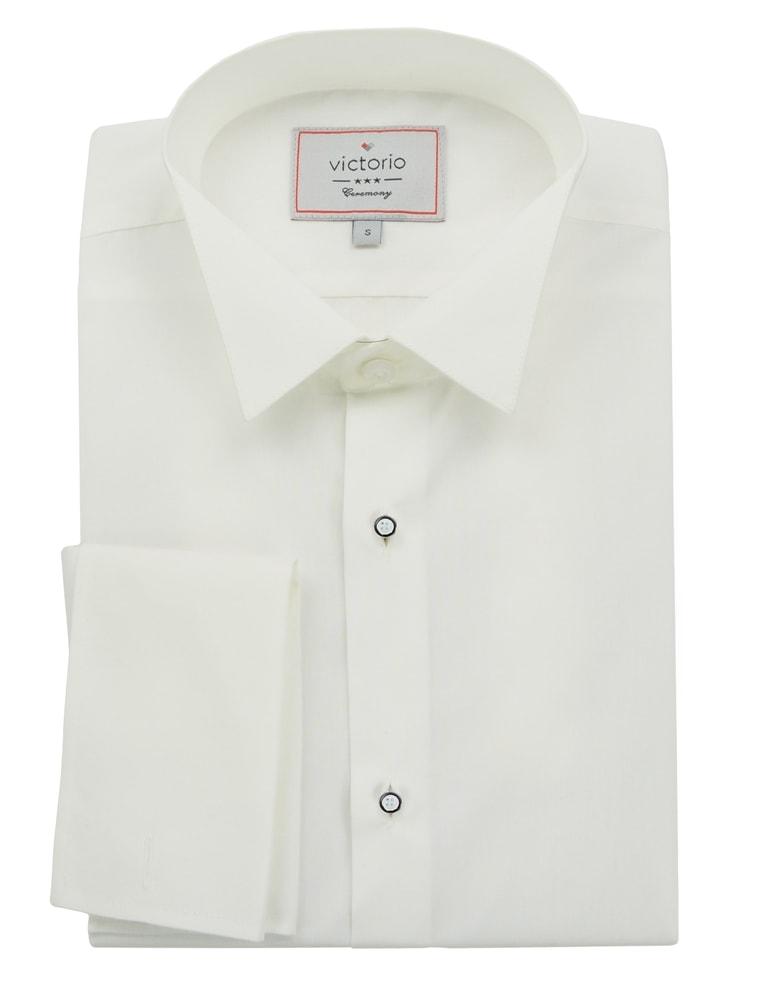 16314b15ed76 Biela pánska košeľa slim fit na motýlik - XL