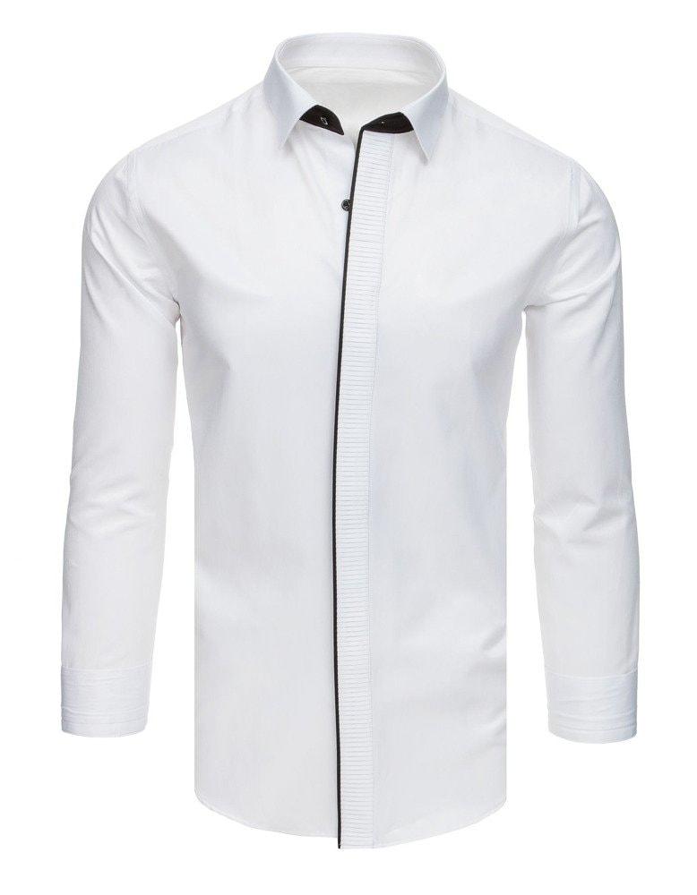 Dstreet Zajímavá smokingová košile bílá