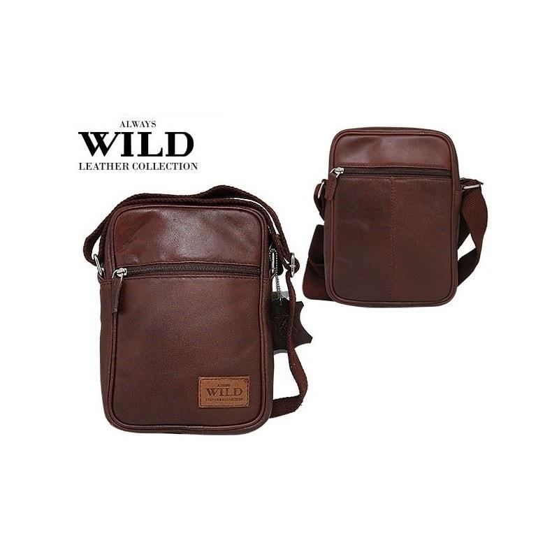 57312b31aa Moderní hnědá pánská taška WILD