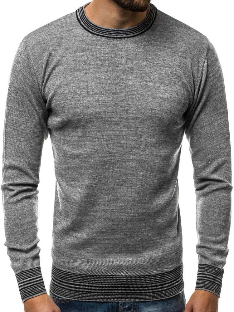 628da138a Buďchlap Stylový pánský šedý svetr HR/1832 - L