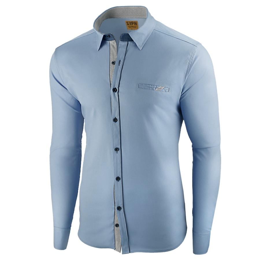 21dba3d6e8a9 Seraphstore.com Atraktivní nebesky modrá pánská košile - XXXL