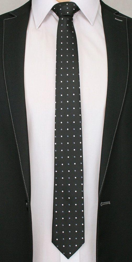 Černá kravata s puntíky