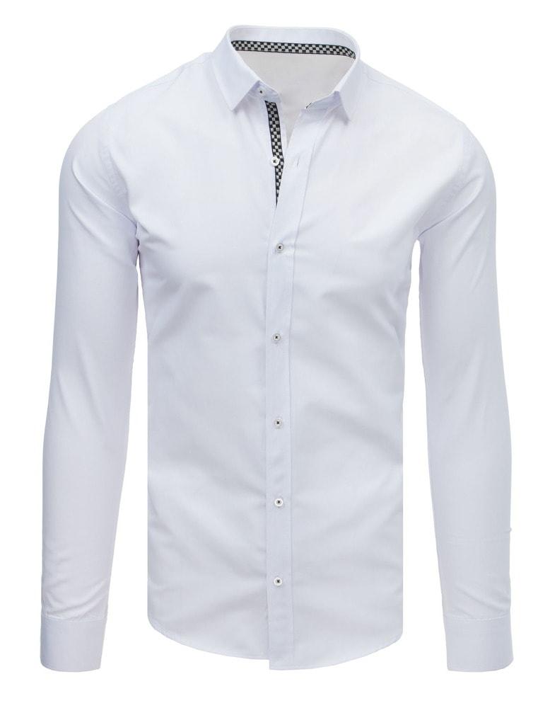 b4d89d1dd9f9 Buďchlap Jednoduchá bílá SLIM FIT košile