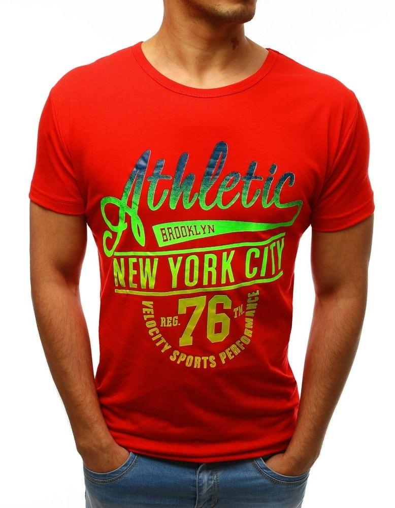 d3d19ed81ed5 Dstreet Červené tričko ATHLETIC New York