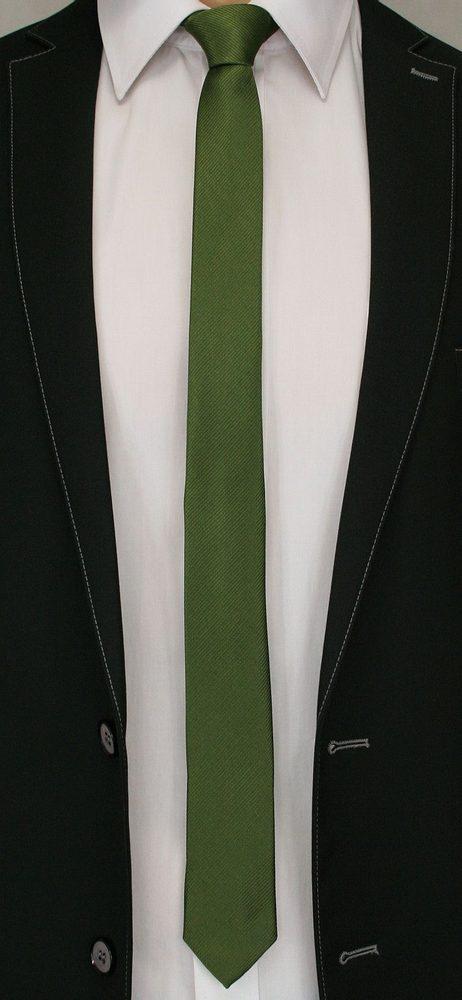 Buďchlap Jednobarevná zelená kravata