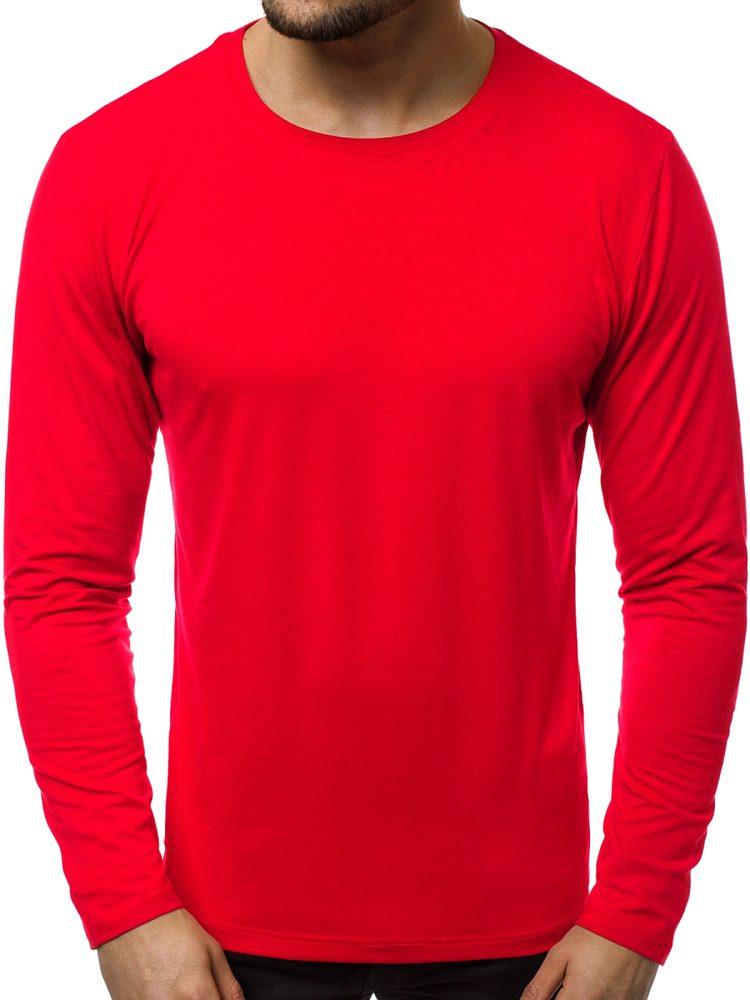 Pohodlné červené tričko s dlouhým rukávem JS/CX01