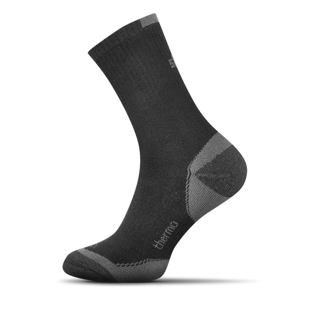 Shox Termo bavlněné ponožky černé - 44-46