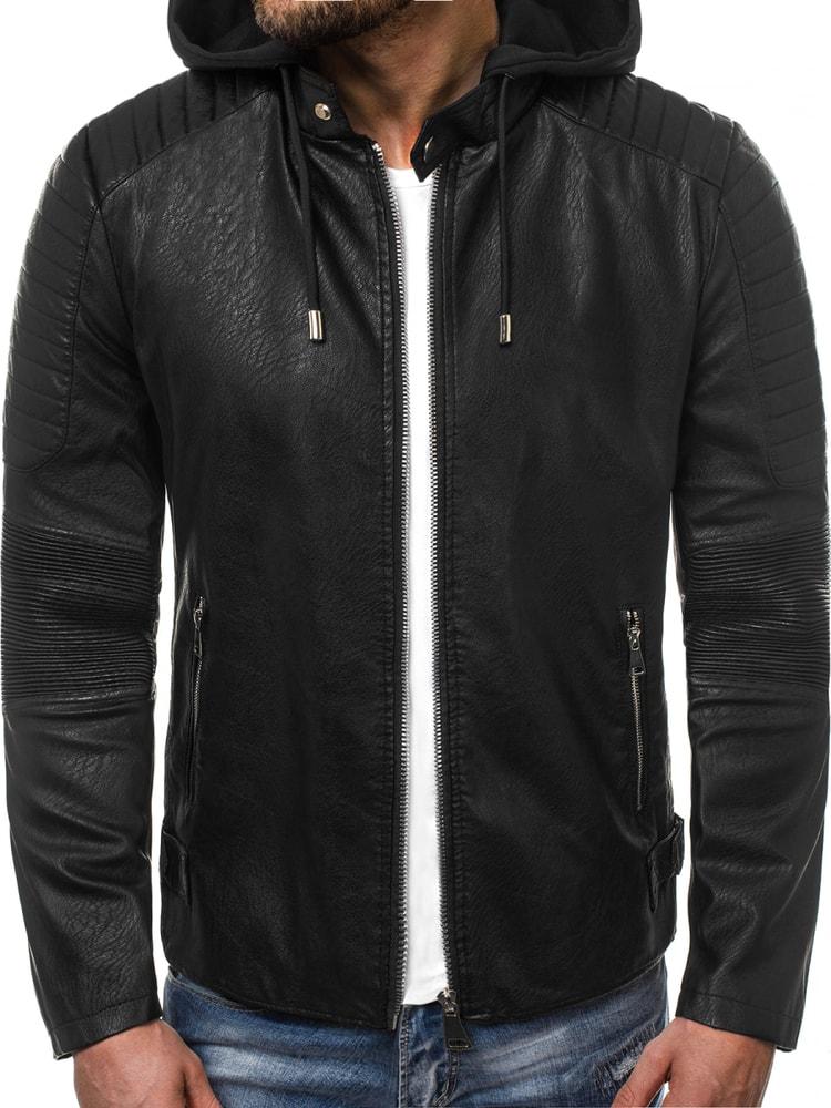 Nature Trendy koženková bunda černá OZONEE O/88902