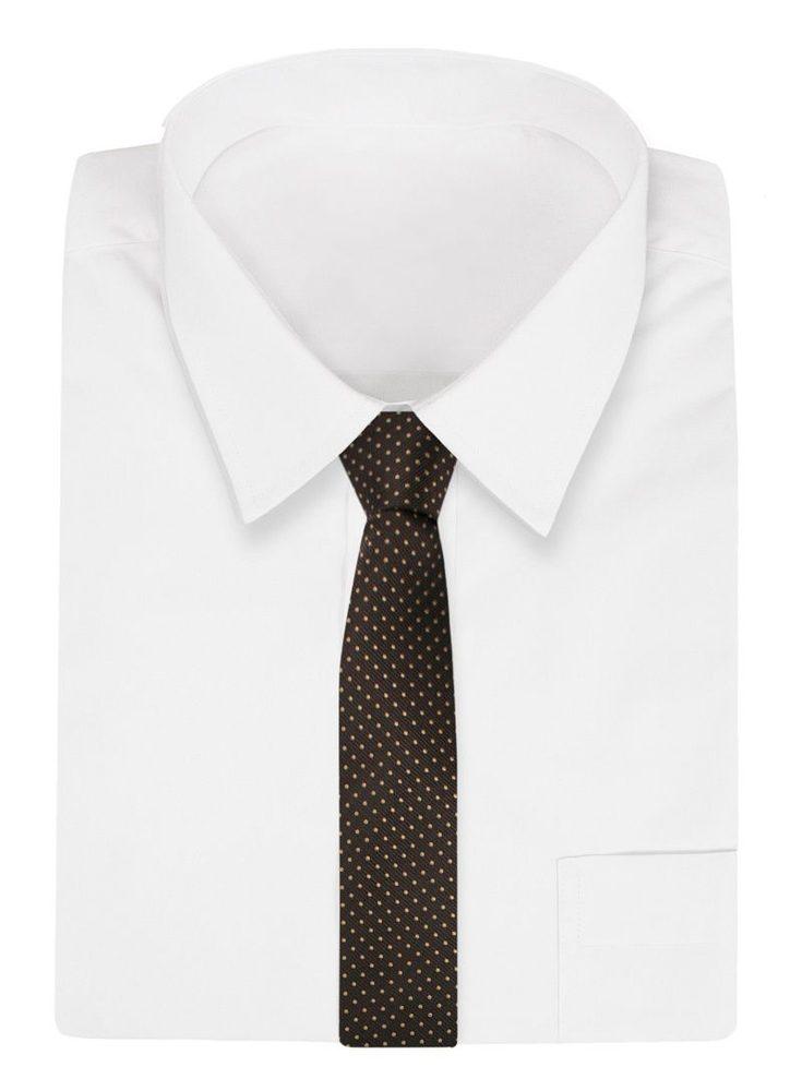 Hnědá kravata s puntíky