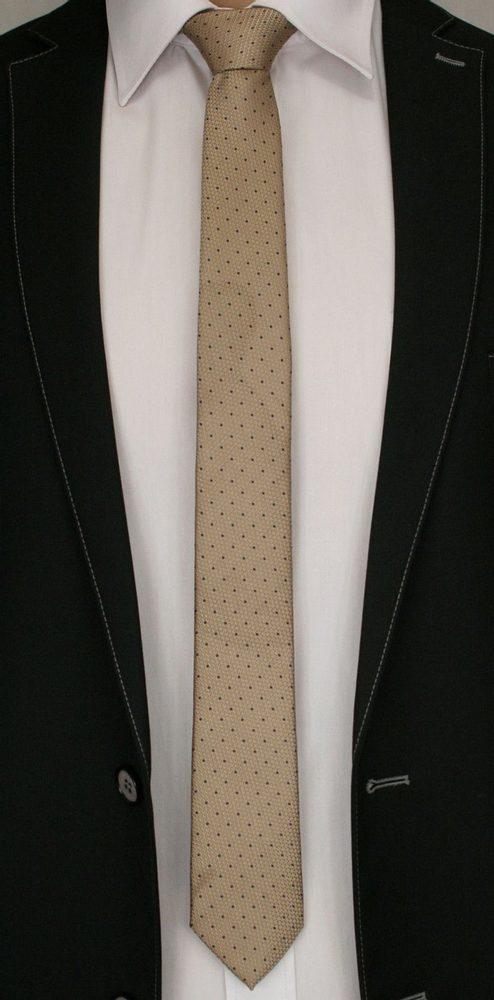 Béžová kravata s puntíky