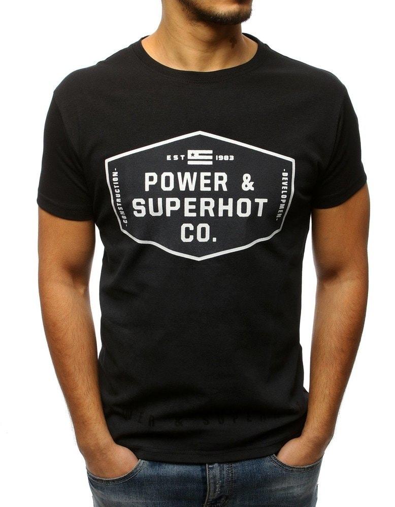19d2a3c5e865 Buďchlap Stylové černé pánské tričko