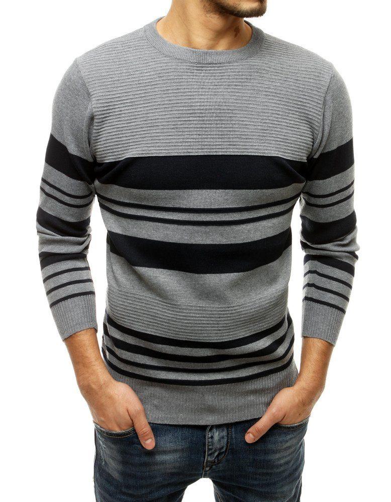 Dstreet Jedinečný šedý svetr - M