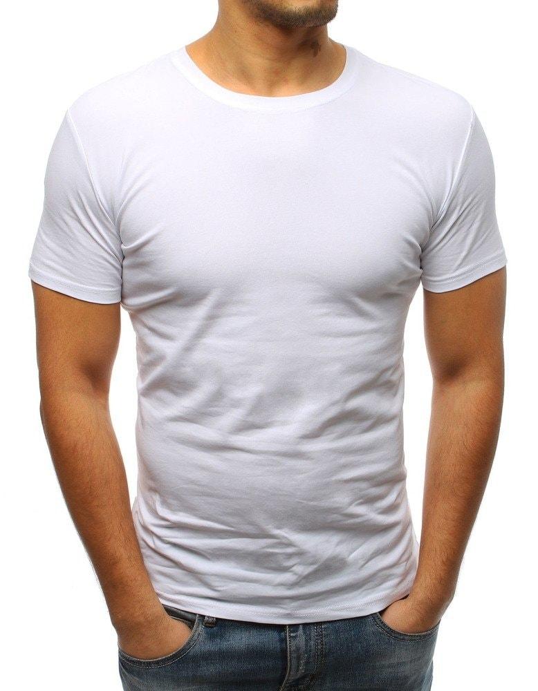 b1313ca28ff6 Buďchlap Moderní bílé pánské tričko