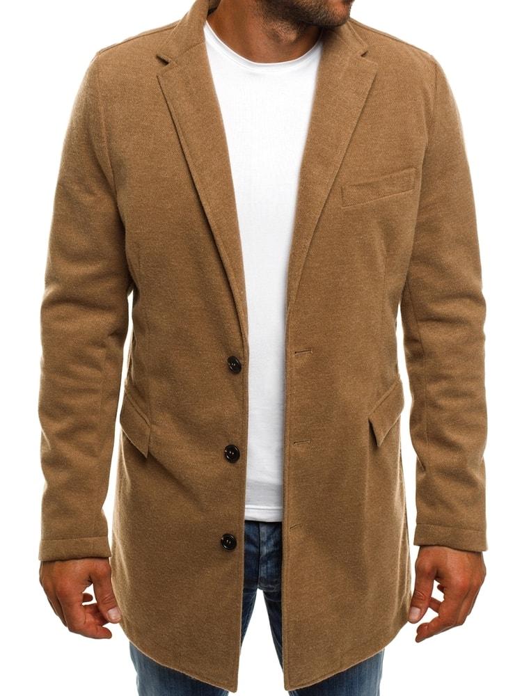 Buďchlap Béžový pánský kabát