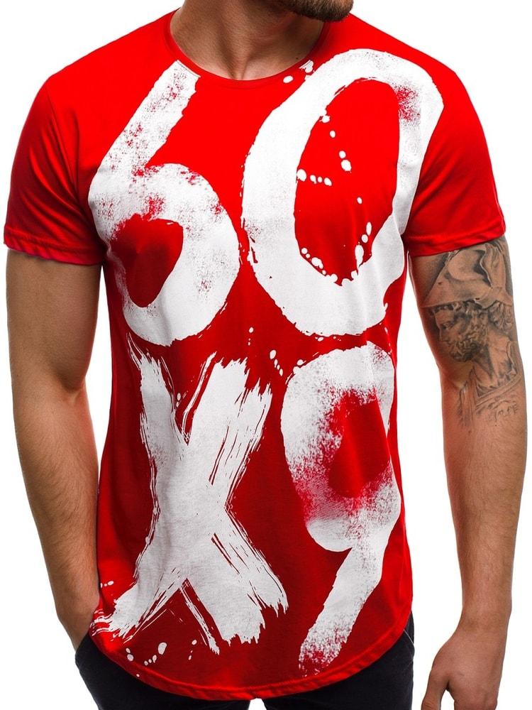680c34083d38 Buďchlap Módní červené tričko OZONEE B 181520