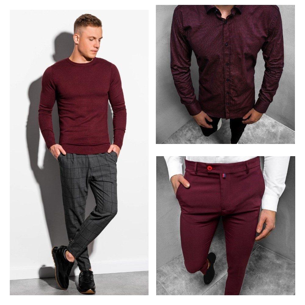 bordový svetr