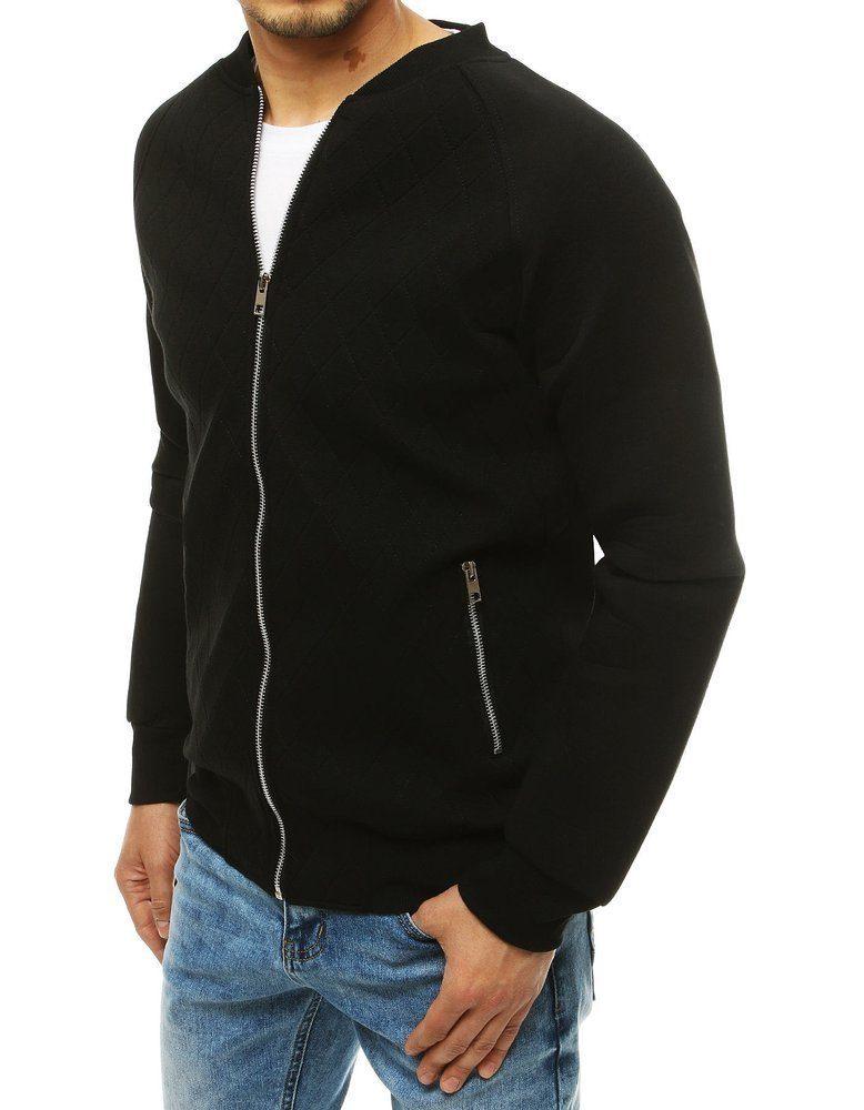 Dstreet Trendová černá mikina na zip