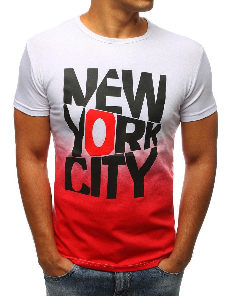cf3bab14a3d6 Buďchlap Bílo-červené tričko New York city