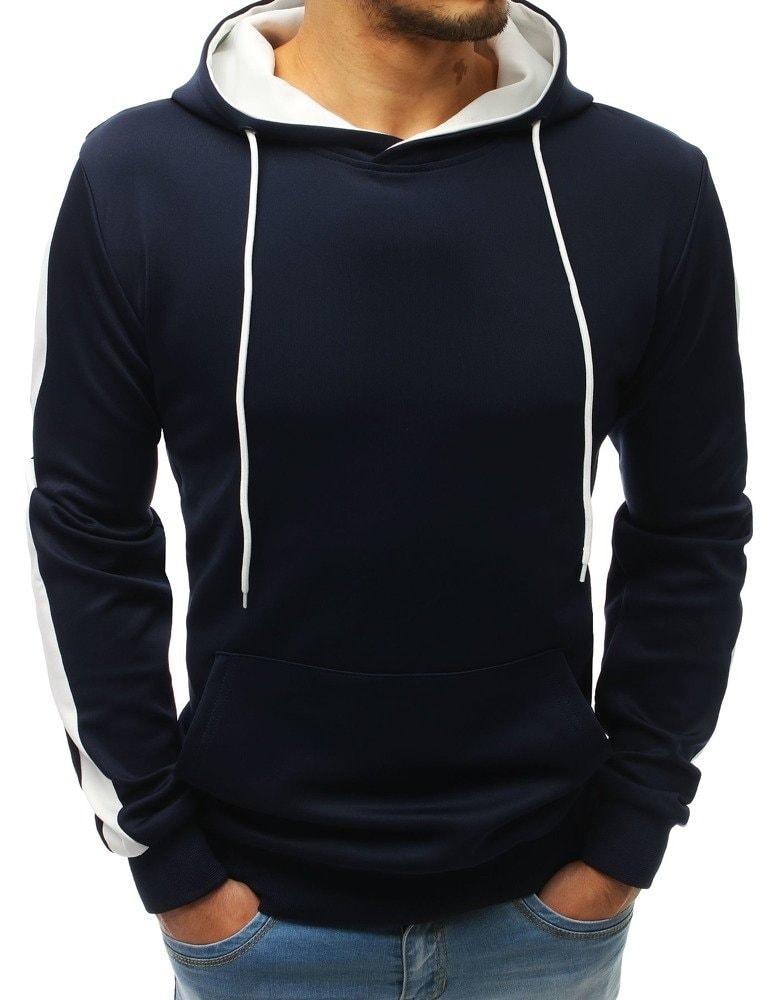Buďchlap Tmavě modrá stylová pánská mikina - XL