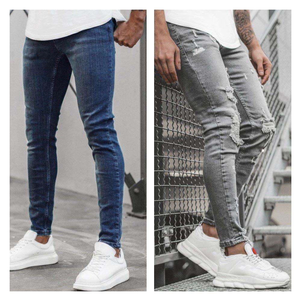 pánské džíny modré a sivé