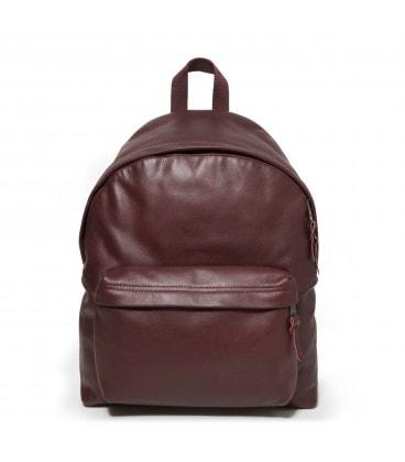 9da86803a6 EASTPAK Vínově červený batoh kožený PADDED PAK R