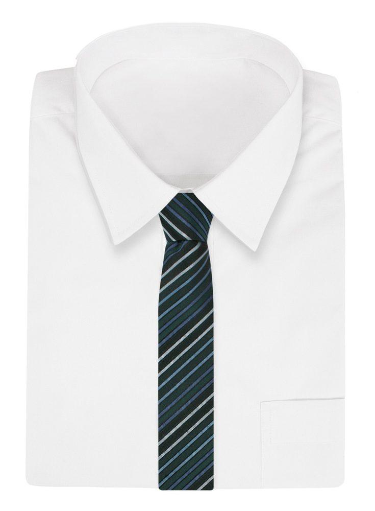Zelená pruhovaná kravata