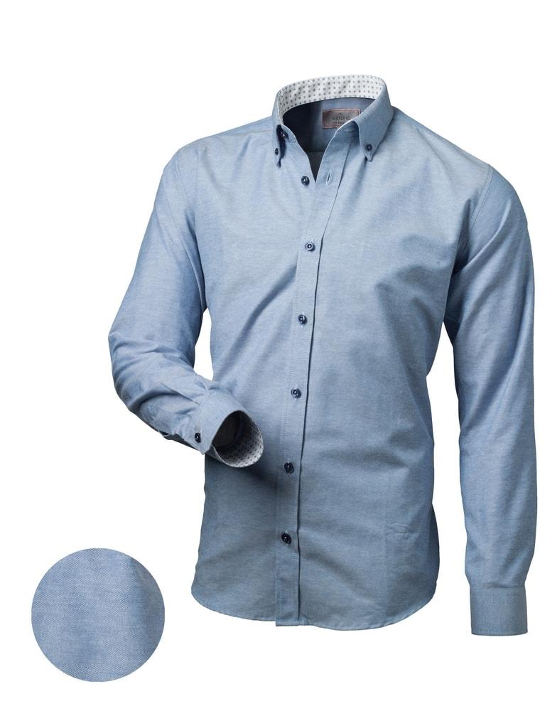 4a53c03d1e3f Victorio Trendy modrá slim fit pánská košile