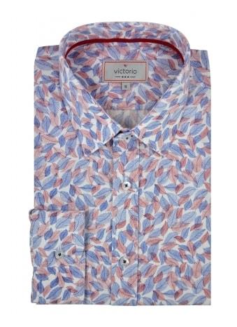 Victorio Moderní vzorovaná pánská košile V406